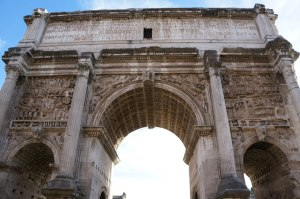 Arch of Titus located in the Roman Forum